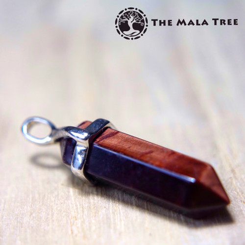RED TIGER'S EYE Double Terminated Pendant