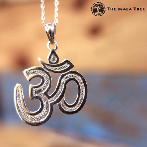 """The Big Om"" Statement Silver Pendant"