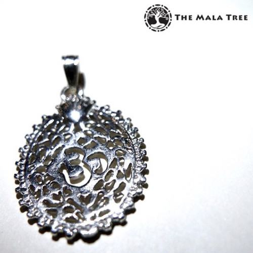 """The Victorian Om"" Silver Pendant"