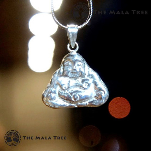 Laughing Buddha Silver Pendant