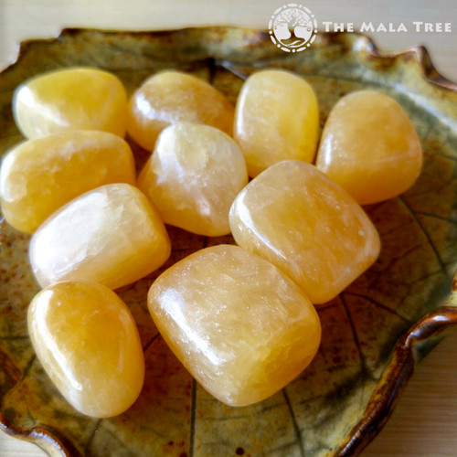 YELLOW / HONEY CALCITE Tumbled Stone