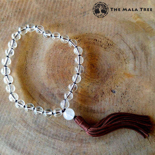 High-Quality CLEAR QUARTZ Wrist Mala