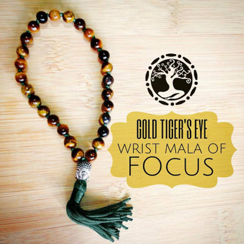 GOLD TIGERS EYE Wrist Mala