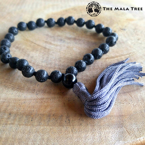 LAVA STONE/ BASALT Wrist Mala