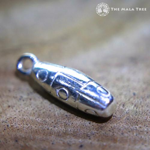 Tibetan 9-Eye Dzi Silver Pendant