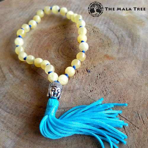 YELLOW CALCITE Wrist Mala