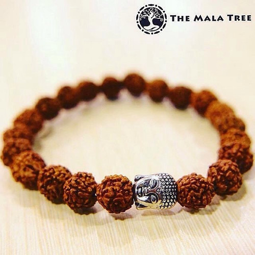 RUDRAKSHA with Buddha Head Bracelet