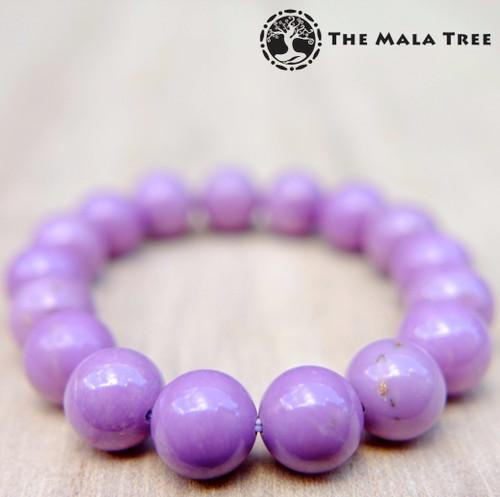 PHOSPHOSIDERITE Bracelet 10mm (High Quality, Orchid Purple)