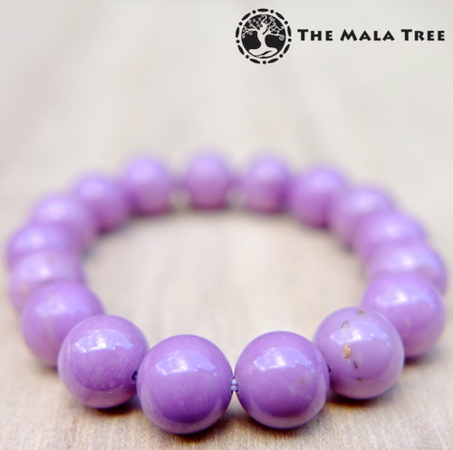 PHOSPHOSIDERITE Bracelet 10mm (High Quality, Orchid Purple)