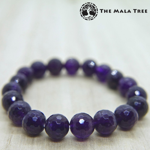 AMETHYST Bracelet (Faceted, Good Quality) 10mm