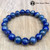 """8mm Lapis Lazuli. Note:  High-quality lapis lazuli is available, too.  Please USE the search function of the  website and type """"Lapis Lazuli"""" and all Lapis Lazuli products will show. Thanks."""