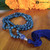 APATITE WITH BLUE AVENTURINE GURU Bespangled 108 Mala