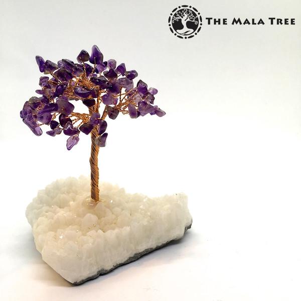 AMETHYST Gem Tree (on Quartz)