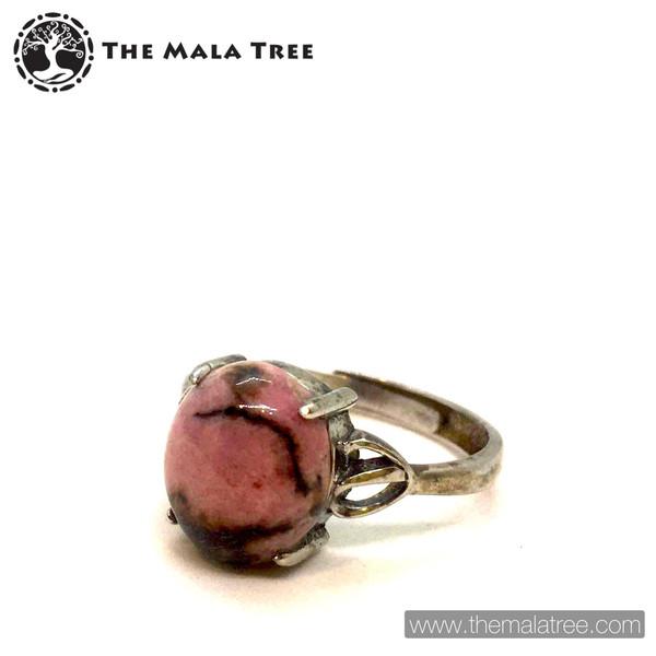 RHODOCHROSITE Ring Set in Silver #2