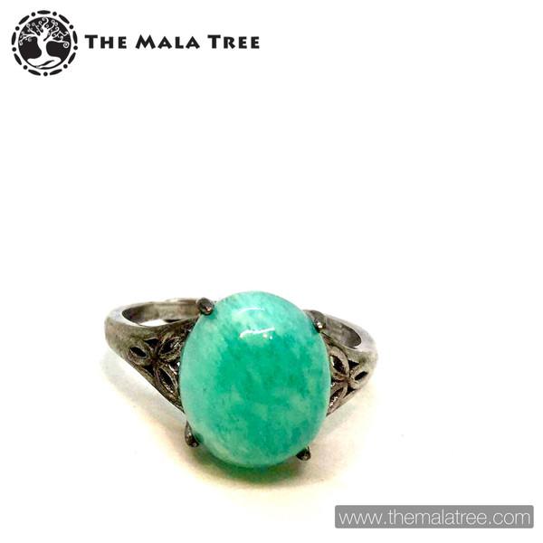 AMAZONITE Ring Set in Silver #2