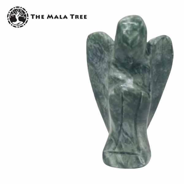 CARVED SERAPHINITE ANGEL