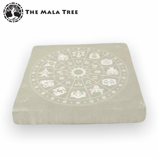 Selenite Zodiac Square Charging Plate