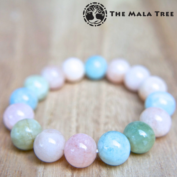 BERYL (Morganite + Heliodor + Goshenite + Aquamarine) Bracelet