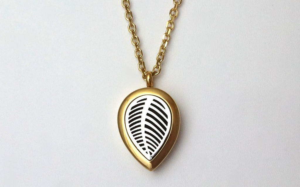 Diffusing Necklace - Silver and Gold Leaf