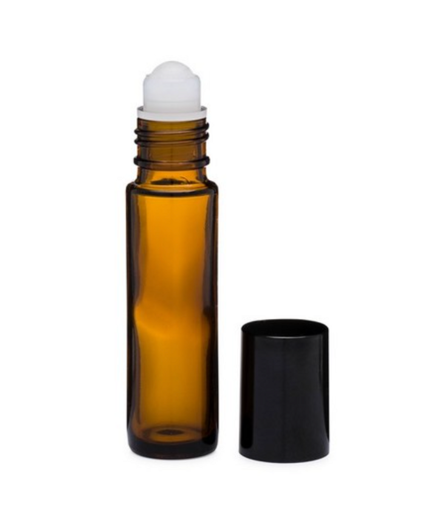 Amber glass roll on bottle (empty, 10ml size)