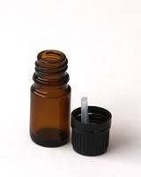 Amber Glass 5 ml  w/Dropper Insert and Cap