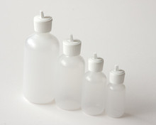 Plastic Bottle 4 oz.  With White Flip Top Cap