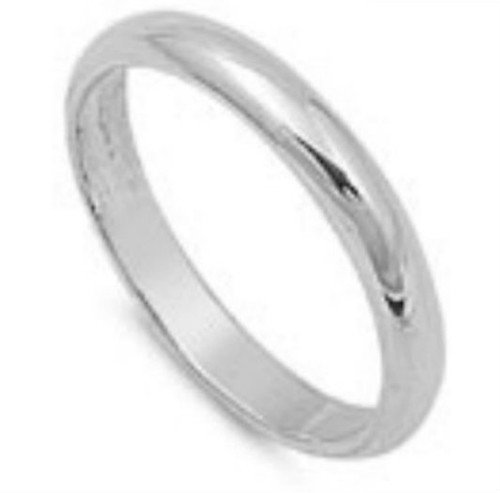 3mm sterling silver band ring