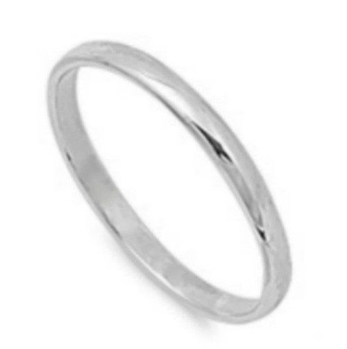 2mm sterling silver band ring