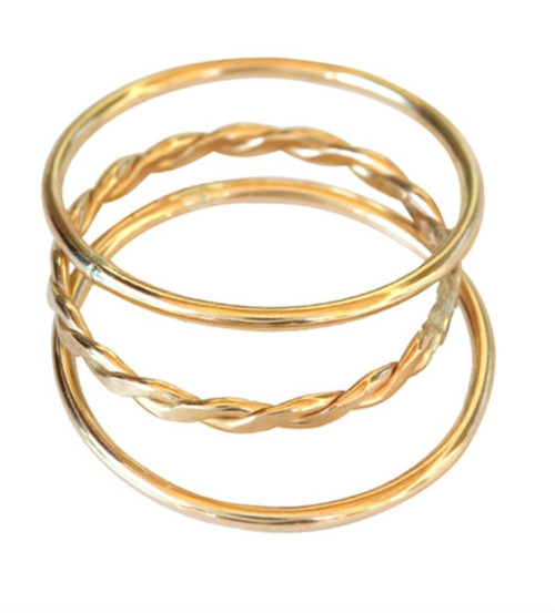14k gold 1mm stacked toe rings, midi rings