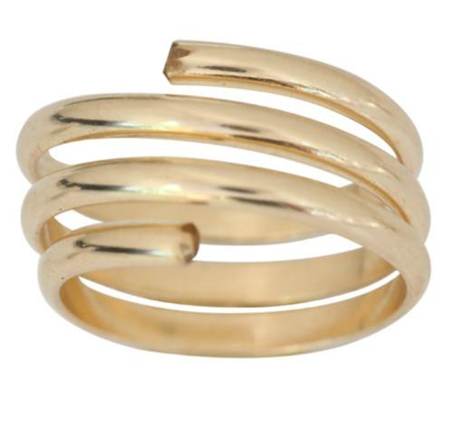 14k gold coil yoga swirl toe ring