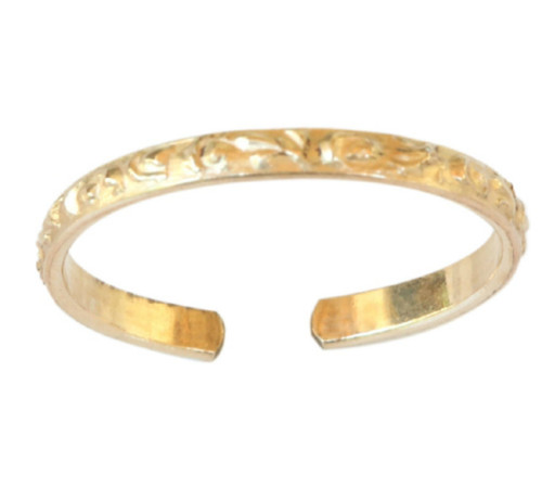 14k gold Hawaiian adjustable toe ring