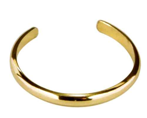 14k gold plain band adjustable toe ring