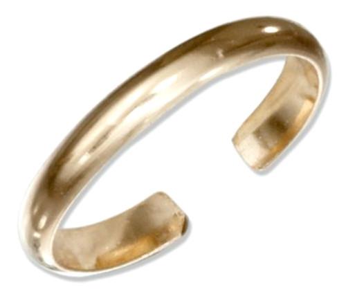 14kt gold 3mm toe ring