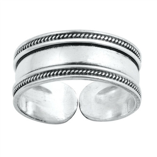 Sterling Silver Toe Ring, thick band, adjustable, midi ring, gift for women