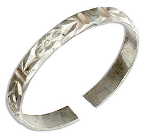 Sterling Silver Plumeria Hawaiian Adjustable Toe Ring