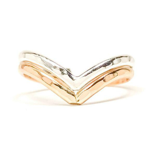 Double Chevron adjustable toe ring