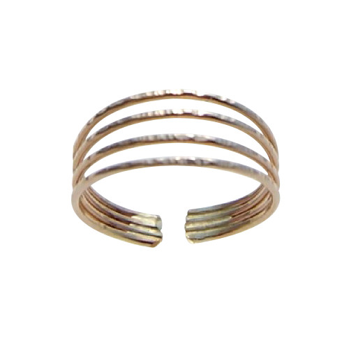 14k Gold filled 4 bands adjustable toe ring