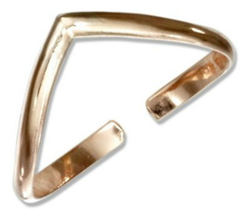 14k Gold Filled Chevron Adjustable Toe Ring