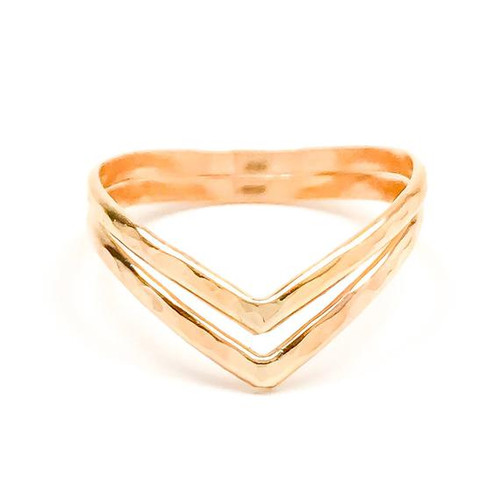 Gold Chevron Toe Ring, Gold Toe Ring for women