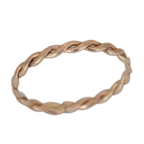 14k gold braid band toe ring