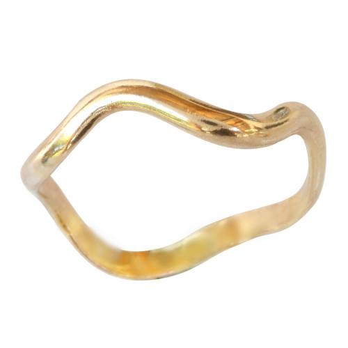 14k gold wave band toe ring