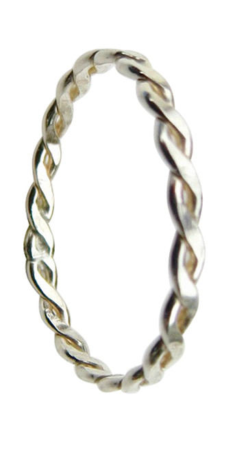 Sterling silver braid band toe ring