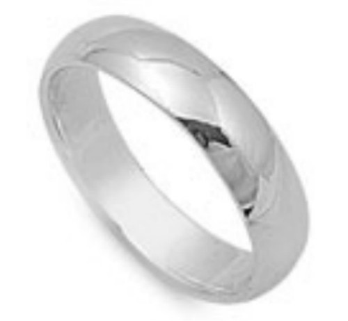 Sterling silver thick band toe ring