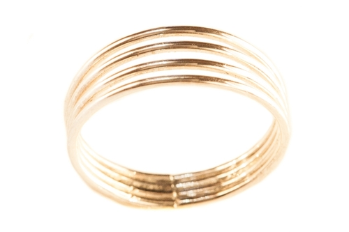 14k gold four band toe ring