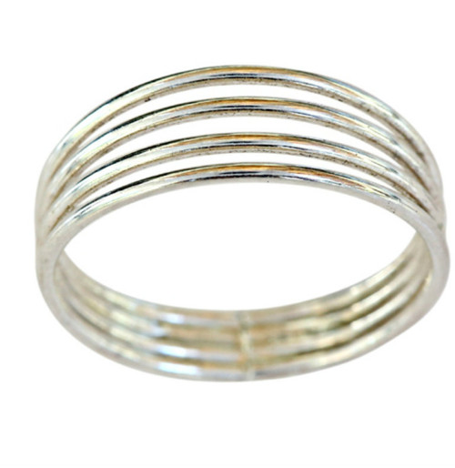 Sterling silver four band toe ring