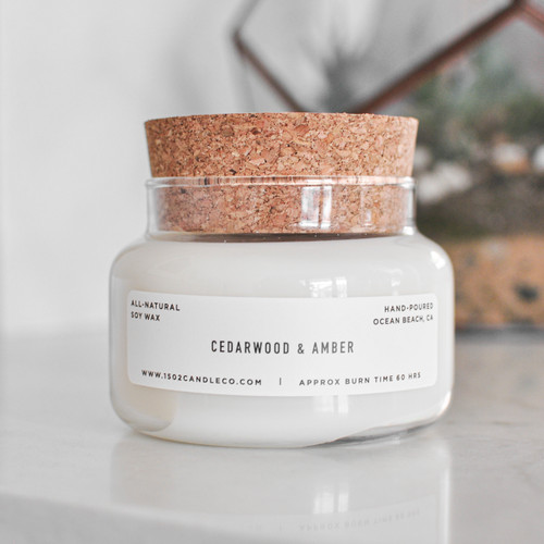 Cedarwood + Amber Apothecary Jar Candle
