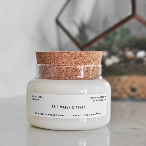 Salt Water + Agave Apothecary Jar Candle