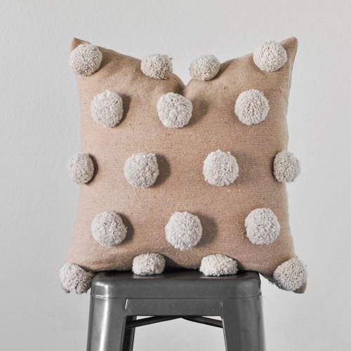 Nude Pom Pom Pillow Cover