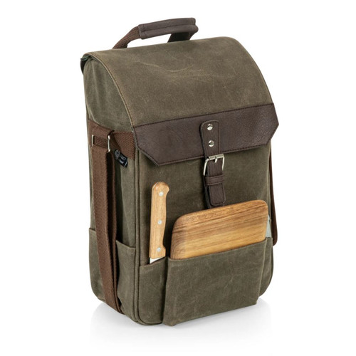 Insulated Wine + Cheese Waxed Canvas Pack