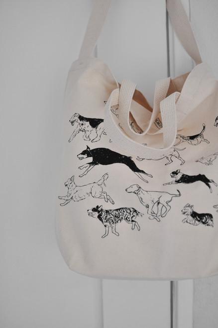 Canvas Dog Run Tote Bag